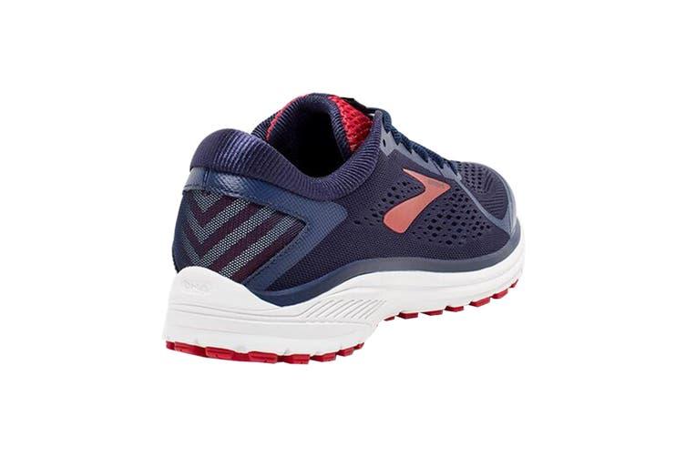 Brooks Men's Aduro 6 Running Shoe (Navy/Cherry/White, Size 9 US)