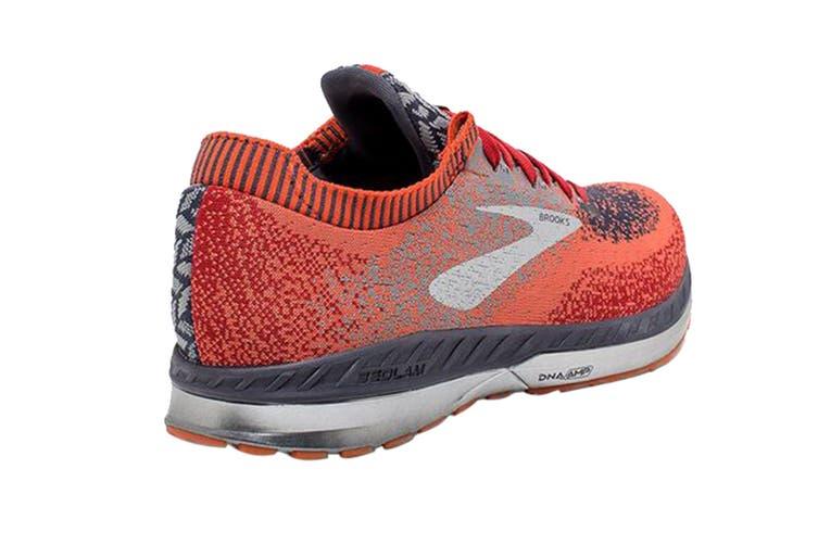 Brooks Men's Bedlam Running Shoe (Red/Orange/Grey, Size 10.5 US)