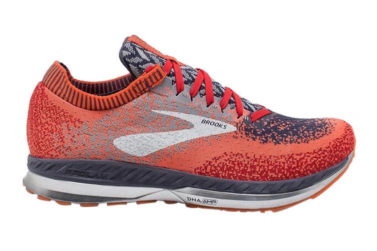 Brooks Men's Bedlam Running Shoe (Red/Orange/Grey, Size 7 US)