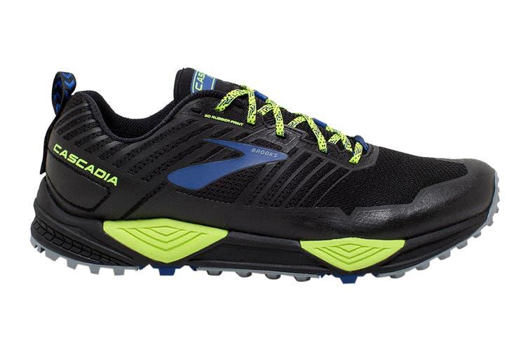 Brooks Men's Cascadia 13 Running Shoe (Black/Nightlife/Blue, Size 7 US)