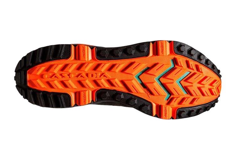 Brooks Men's Cascadia 13 Running Shoe (Grey/Black/Orange, Size 9.5 US)