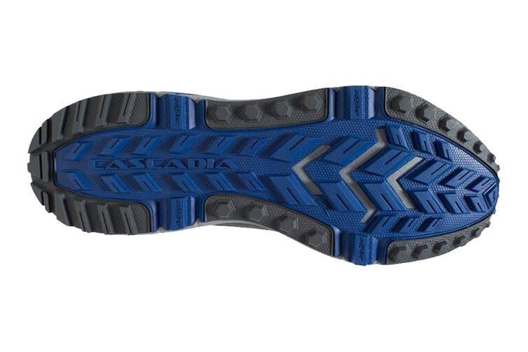 Brooks Men's Cascadia 13 Running Shoe (Grey/Blue/Ebony, Size 9.5 US)