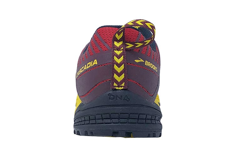 Brooks Men's Cascadia 13 Running Shoe (Red/Yellow/Black, Size 9 US)