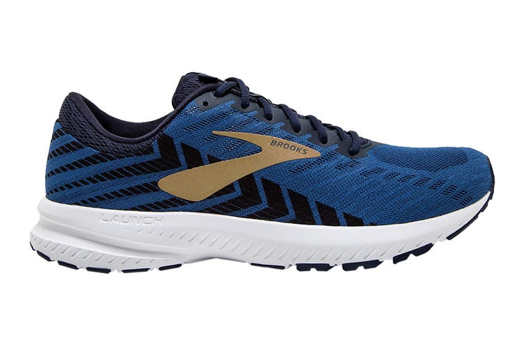 Brooks Men's Launch 6 Running Shoe (Peacoat/Blue/Gold, Size 9.5 US)