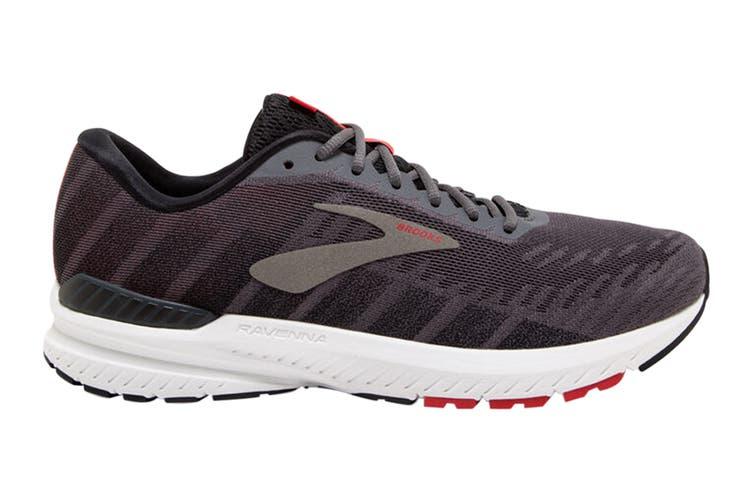 Brooks Men's Ravenna 10 Running Shoe (Ebony/Black/Red, Size 11 US)