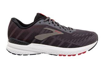 Brooks Men's Ravenna 10 Running Shoe (Ebony/Black/Red, Size 8.5 US)