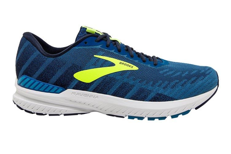 Brooks Men's Ravenna 10 Running Shoe (Blue/Navy/Nightlife, Size 8 US)