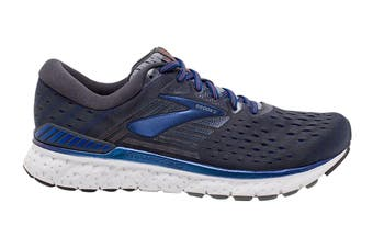 Brooks Men's Transcend 6 Running Shoe (Ebony/Blue/Mandarin, Size 9.5 US)