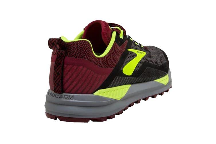 Brooks Men's Cascadia 14 Running Shoe (Black/Red/Nightlife, Size 10.5 US)