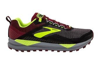 Brooks Men's Cascadia 14 Running Shoe (Black/Red/Nightlife, Size 9.5 US)