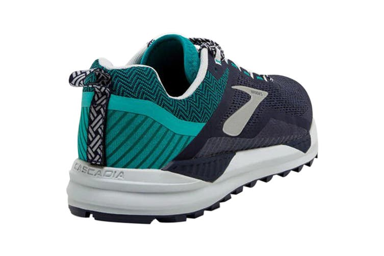 Brooks Men's Cascadia 14 Running Shoe (Navy/Blue Grass/Grey, Size 8 US)