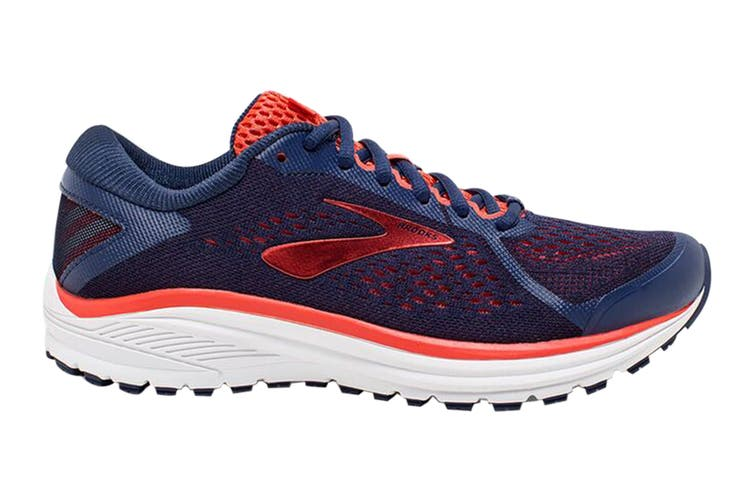 Brooks Women's Aduro 6 Running Shoe (Blue/Coral/White, Size 6 US)
