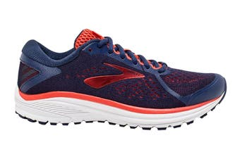 Brooks Women's Aduro 6 Running Shoe (Blue/Coral/White, Size 7 US)