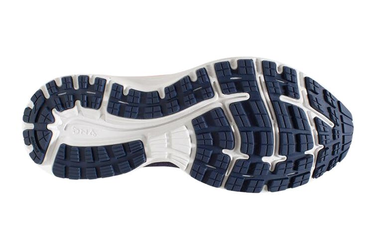Brooks Women's Aduro 6 Running Shoe (Blue/Coral/White, Size 9 US)