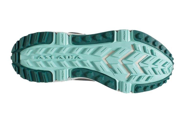 Brooks Women's Cascadia 13 Running Shoe (Teal/Aqua/Grey, Size 10 US)