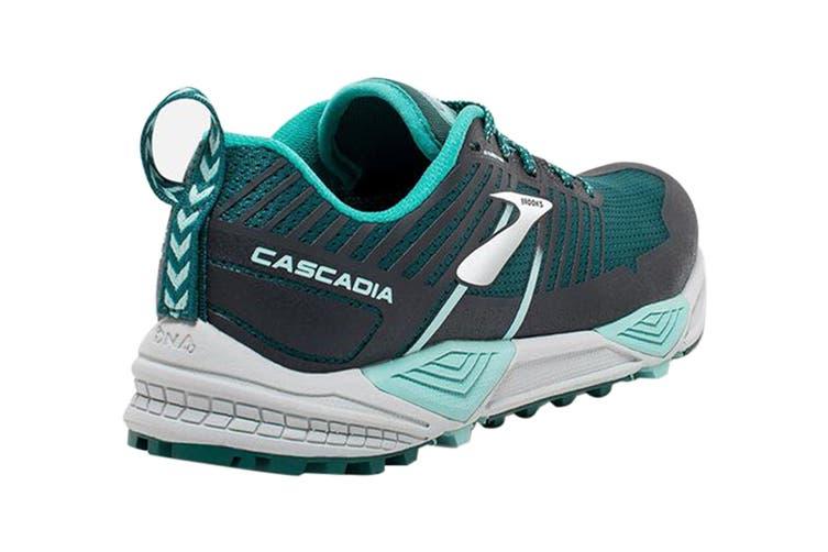 Brooks Women's Cascadia 13 Running Shoe (Teal/Aqua/Grey, Size 9 US)