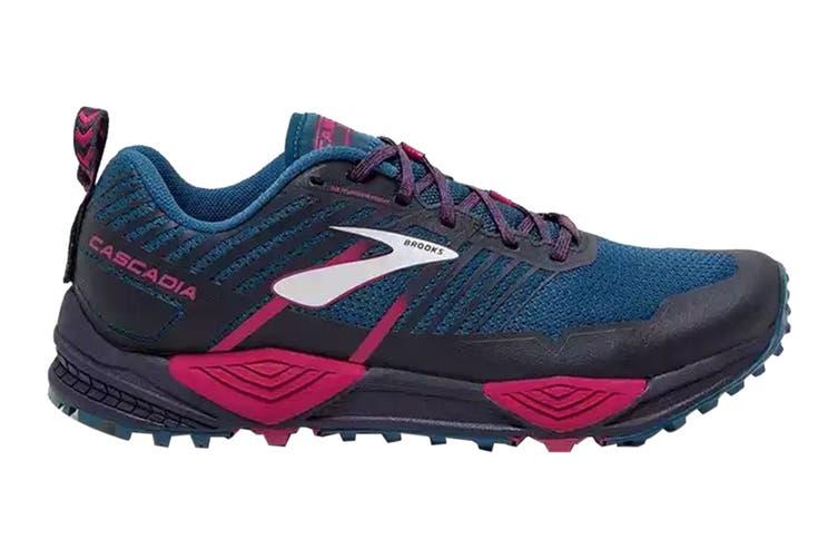 Brooks Women's Cascadia 13 Running Shoe (Ink/Navy/Pink, Size 8.5 US)