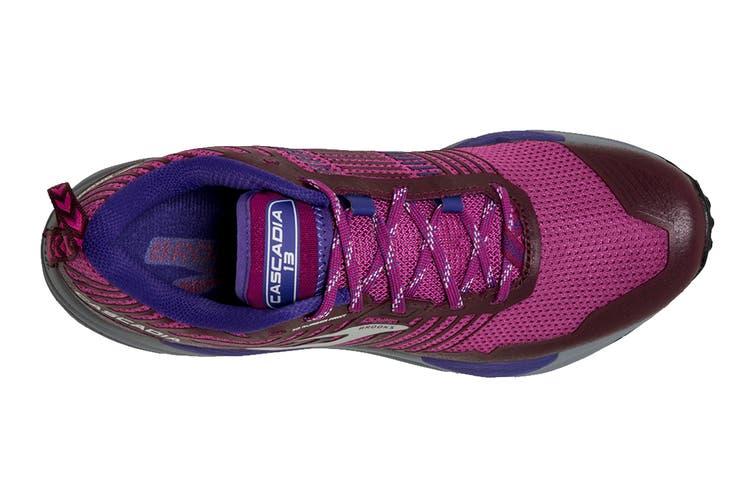 Brooks Women's Cascadia 13 Running Shoe (Aster/Fig/Purple, Size 10 US)