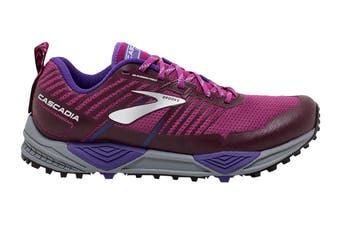 Brooks Women's Cascadia 13 Running Shoe (Aster/Fig/Purple, Size 8.5 US)