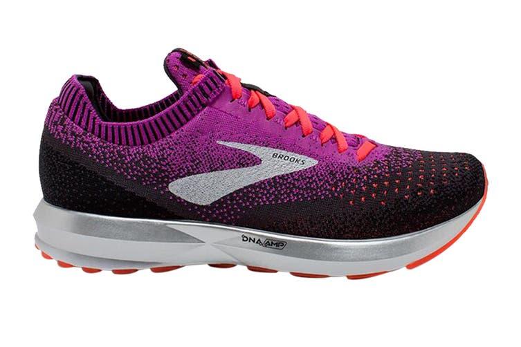 Brooks Women's Levitate 2 Running Shoe (Purple/Fiery Coral/Black, Size 6 US)