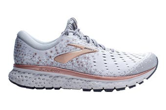 Brooks Women's Glycerin 17 Running Shoe (White/Copper/Grey, Size 7.5 US)