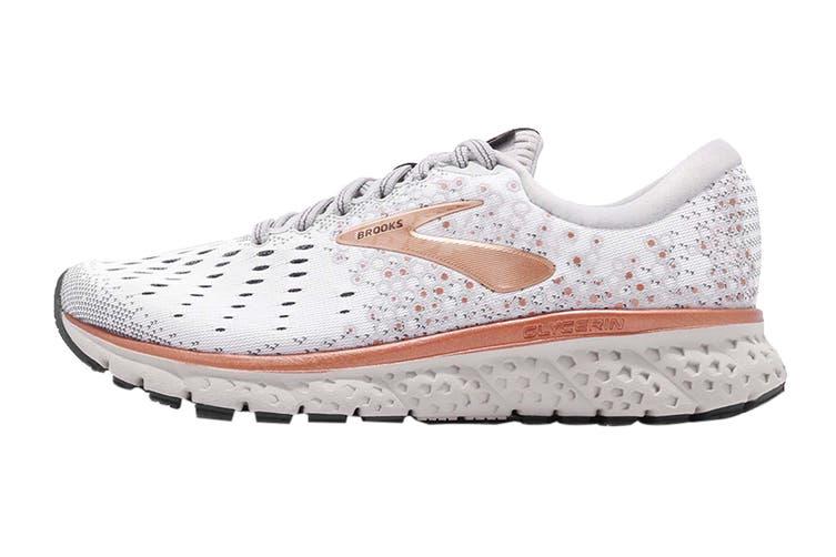 Brooks Women's Glycerin 17 Running Shoe (White/Copper/Grey, Size 8 US)