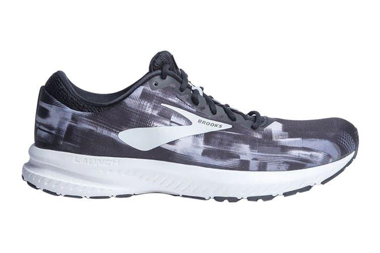 Brooks Women's Launch 6 Running Shoe (Black/Primer/Oyster, Size 6 US)