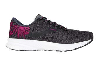 Brooks Women's Launch 6 Running Shoe (Blackened Pearl/Wild Aster, Size 7.5 US)