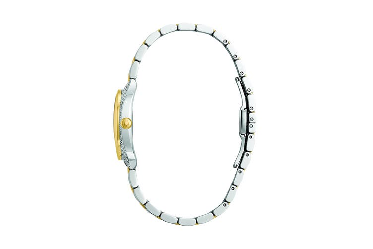 Bulova Ladies' 28mm Analog Quartz Watch with Diamonds - Two-Tone Stainless Steel (98R229)