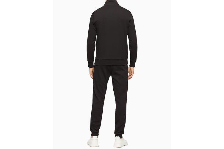 Calvin Klein Men's Athleisure Logo Band Jacket (Black, Size S)
