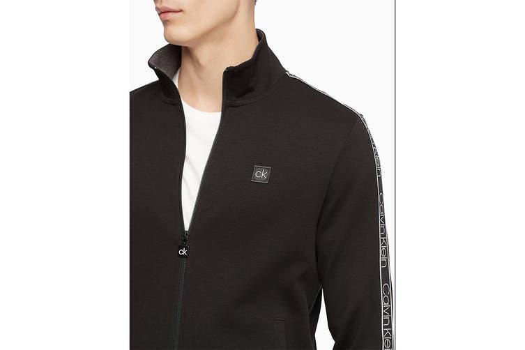 Calvin Klein Men's Athleisure Logo Band Jacket (Black, Size XS)