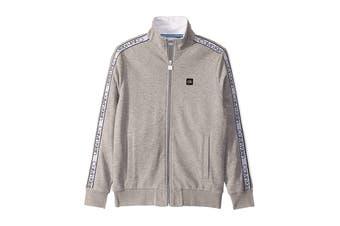 Calvin Klein Men's Athleisure Logo Band Jacket (Heroic Grey Heather, Size XS)