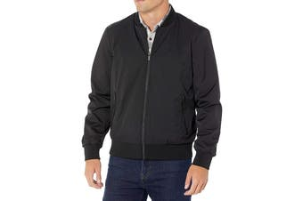 Calvin Klein Men's Matte Bomber Jacket (Black, Size 2XL)