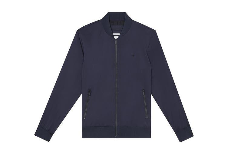 Calvin Klein Men's Matte Bomber Jacket (Sky Captain, Size 2XL)