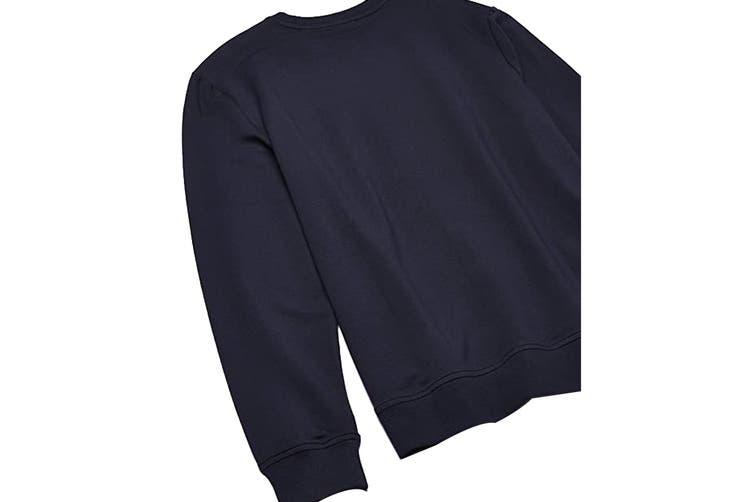 Calvin Klein Men's Long Sleeve Color Blocked Pu Jumper (Sky Captain, Size S)