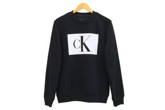 Calvin Klein Men's Logo Pullover Sweatshirt (Black)