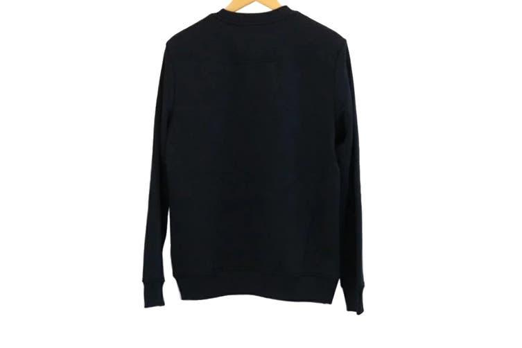 Calvin Klein Men's Logo Pullover Sweatshirt (Black, Size S)