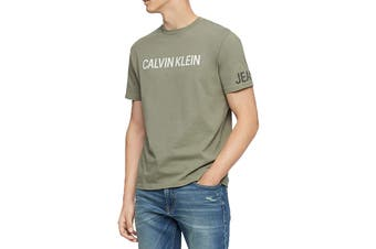Calvin Klein Men's Crew Neck T-Shirt (Dusty Olive)