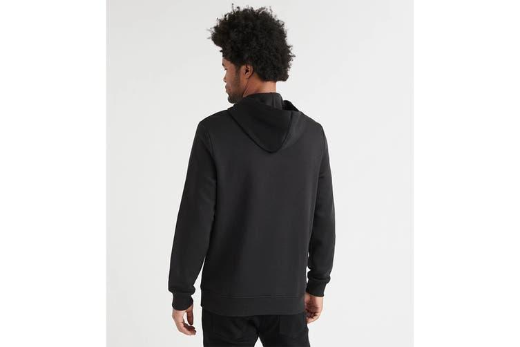 Calvin Klein Men's Monogram Logo Fleece Jumper (Black, Size 2XL)