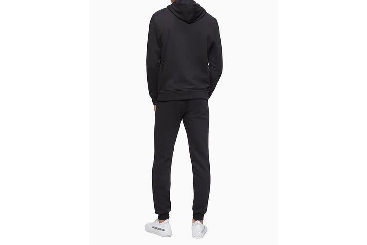 Calvin Klein Men's Monogram Logo Fleece (Black, Size L)