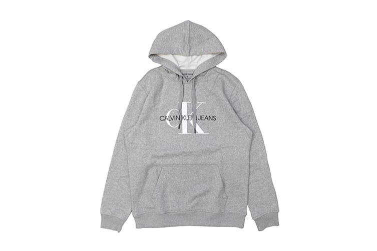 Calvin Klein Men's Monogram Logo Fleece Jumper (Med Charcoal, Size XL)