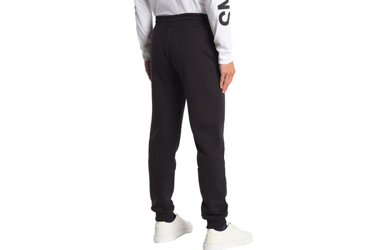 Calvin Klein Men's Monogram Fleece Jogger (Black, Size M)