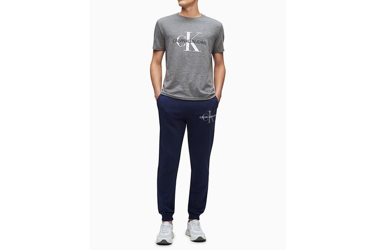 Calvin Klein Men's Monogram Fleece Jogger (Peacoat, Size M)