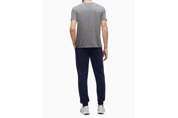 Calvin Klein Men's Monogram Fleece Jogger (Peacoat, Size S)