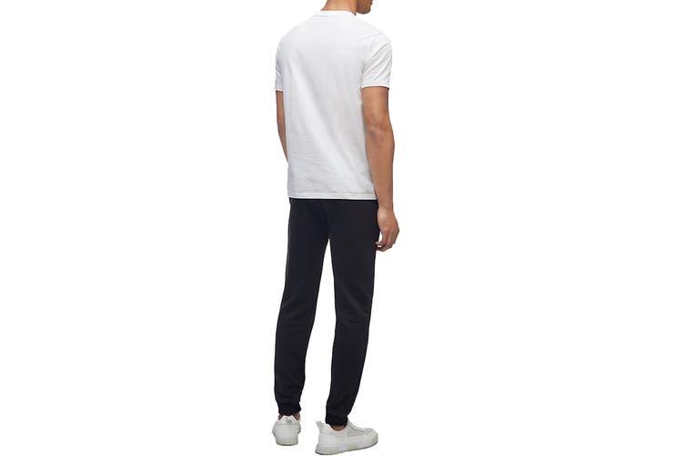 Calvin Klein Men's Monogram Pride Tee (Brilliant White, Size XL)