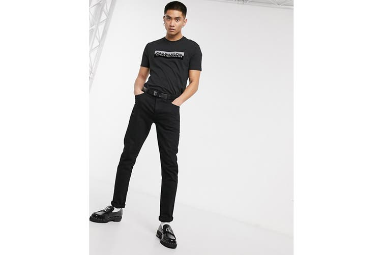 Calvin Klein Men's Monogram Crew Tee (Mosstone, Size S)