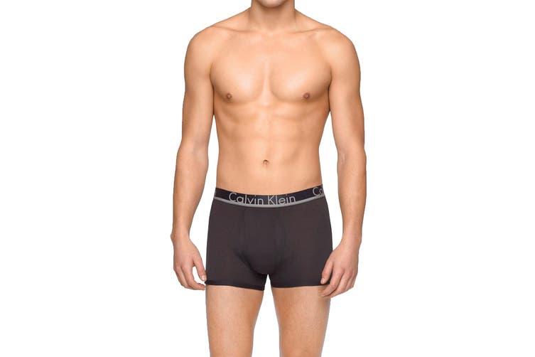 Calvin Klein Men's Comfort Microfiber Trunk (Black, Size S) - 3 Pack