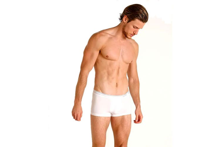Calvin Klein Men's Micro Low Rise Trunk Underwear (White, Size S)