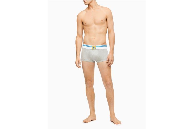 Calvin Klein Men's Sock Waistband Low Rise Trunk Underwear (Grey Heather, Size M)