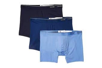 Calvin Klein Men's Micro Boxer Brief Underwear (Perth/Shoreline/Azure, Size XL) - 3 Pack